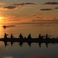 Outrigger @ Sunset @ Aitutaki