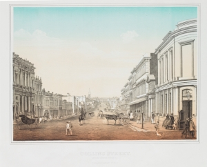 Collins Street from Queen Street, 1862