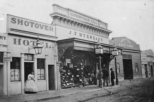 Businesses on Revell Street, Hokitika, in 1867 (69)
