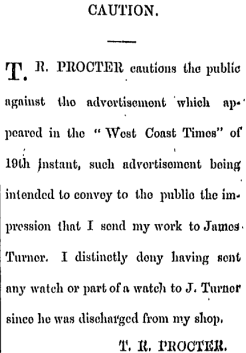 Thomas Proctor, denying the watch is his